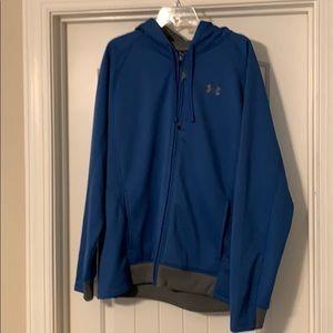 Men's Blue UA long sleeve, full zip hoodie